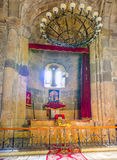 L'altare nella chiesa di Astvatsatsin Immagini Stock