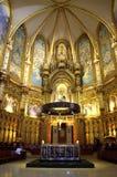 L'altare nella chiesa di Montserrat Fotografia Stock Libera da Diritti