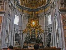 L'altare principale del Bernini di St Peter Fotografia Stock