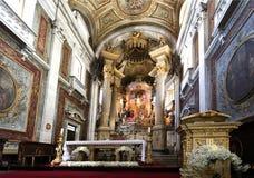 L'altare principale della basilica di Bom Gesù Immagine Stock Libera da Diritti