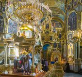 L'altare santo in Pochaev Lavra Immagine Stock