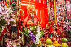L'altare in tempio di Yeung Hau Fotografia Stock