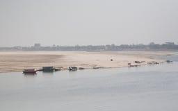 L'altro lato di Ganga Fotografia Stock