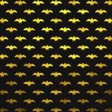 L'aluminium métallique jaune manie la batte la polka Dot Pattern illustration stock