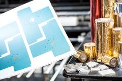 L'aluminium roule pour l'estampillage photographie stock libre de droits