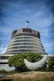L'alveare, l'ala esecutiva delle costruzioni del Parlamento della Nuova Zelanda Fotografie Stock Libere da Diritti