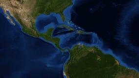 L'Amérique Centrale de l'espace - bourdonnement illustration de vecteur