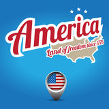 l'Amérique - cordon de la liberté Photo libre de droits