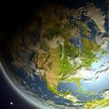 l'Amérique du Nord de l'espace illustration stock