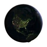 l'Amérique du Nord de l'espace illustration libre de droits