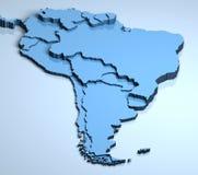 L'Amérique du Sud 3d Images stock