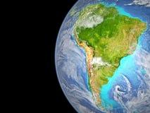 L'Amérique du Sud de l'espace photographie stock libre de droits
