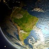 L'Amérique du Sud de l'espace illustration stock