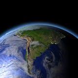 L'Amérique du Sud de l'espace illustration libre de droits