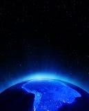 l'Amérique du Sud la nuit illustration libre de droits