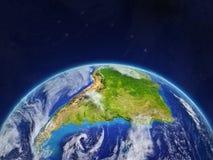 L'Amérique du Sud sur terre photos stock