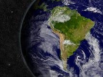 L'Amérique du Sud sur terre de planète Photos stock