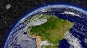 L'Amérique du Sud sur terre de planète Images libres de droits