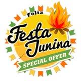 L'Amérique latine Festa traditionnel Junina, la partie de juin du Brésil Conception sans couture de rétro style avec le symbolism Photos libres de droits