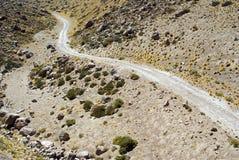 l'Amérique les Andes du sud à la voie Photographie stock