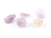 L'améthyste d'Ametrine perle dans des couleurs pourpres, violettes et jaunes Photo libre de droits