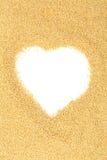 L'amaranthe crue et crue sème le coeur Photographie stock