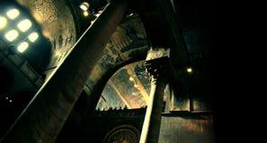 L'ambiance aiment un vieux temple n'importe où dans la planète Photos stock