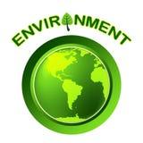 L'ambiente del globo rappresenta va verde e terra Immagini Stock