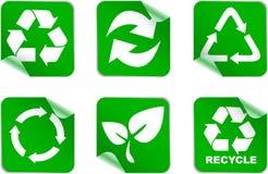 L'ambiente e ricicla le icone Fotografie Stock Libere da Diritti