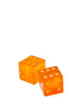 L'ambra taglia isolato Immagine Stock