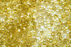 L'ambre perle le fond Photo stock