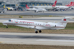L'ambulance aérienne de TC-GVS a fonctionné par ministère de la Santé de la Turquie Image libre de droits