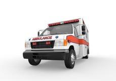 Ambulance d'isolement sur le fond blanc Images stock