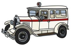 L'ambulance de vintage illustration stock