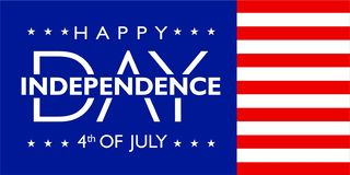 L'America festa dell'indipendenza 4 luglio con colore della bandiera illustrazione vettoriale
