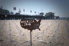 L'America nell'Iraq Fotografia Stock Libera da Diritti