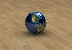 L'America sul globo isolato Immagine Stock