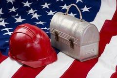 L'America sul lavoro Fotografie Stock Libere da Diritti