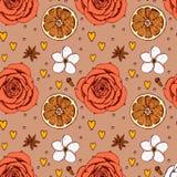 L'american national standard floral de croquis épice le modèle Images stock