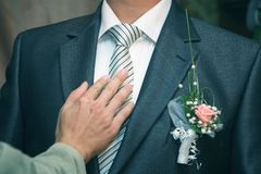 L'ami redresse son mari? de lien Accessoires de vacances image libre de droits