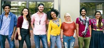 L'amitié d'unité d'amis heureuse apprécient le concept Photographie stock libre de droits