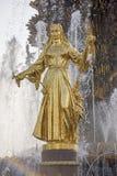 L'amitié de fontaine de l'URSS Images stock