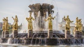 L'amitié de fontaine de l'URSS Image libre de droits