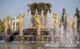 L'amitié de fontaine de l'URSS Image stock
