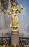 L'amitié de fontaine de l'URSS, Moscou Image stock