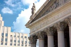 L'amministrazione della giustizia vera Fotografie Stock Libere da Diritti
