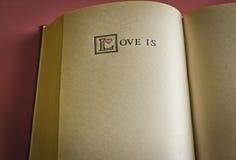 L'amore è… Fotografie Stock