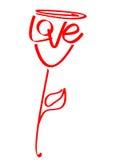L'amore è aumentato Immagine Stock Libera da Diritti
