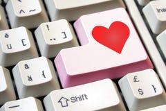 L'amore è il tasto Fotografie Stock