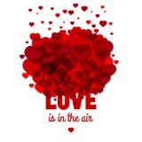 L'amore è nell'aria Modello di vettore Immagine Stock
